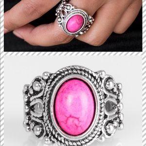 paparazzi Jewelry - New - Pink Stretch Ring